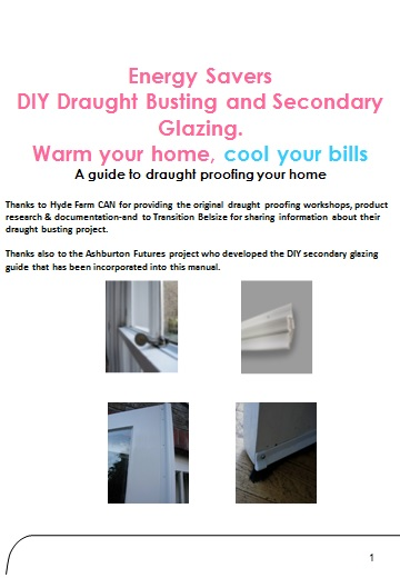 energy savers draught busting and secondary glazing manual cover