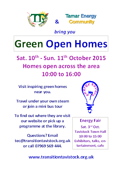 Green Open Homes 2015 flyer
