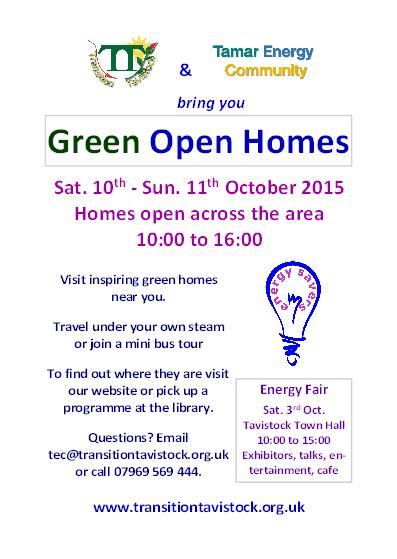 Green Open Homes 2015 flyer