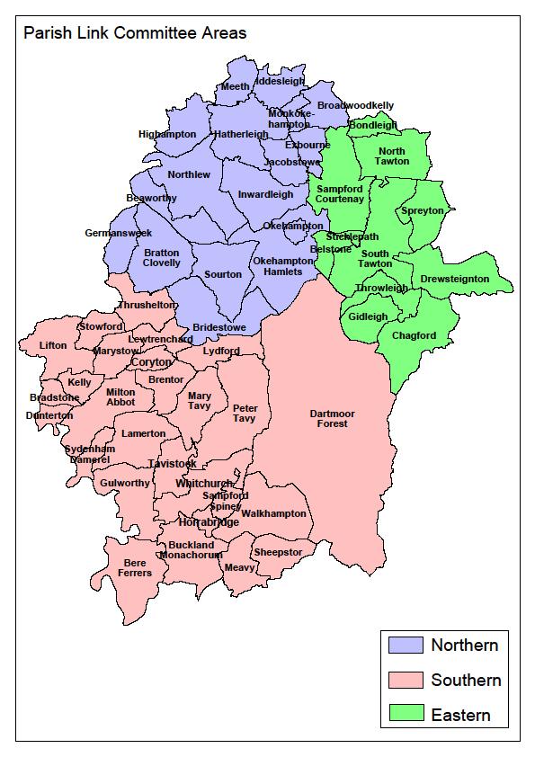 West Devon Parish Link areas